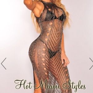 Other - Metallic sleeveless dress/ swim cover